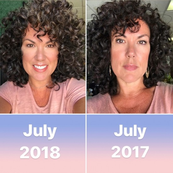 Don't Give Up! 3a Out Wash and Go Natural curls  dye-free  air dry  curly hair  curly girl  curly girl method  curly silver
