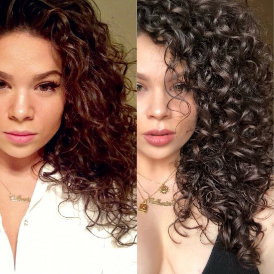 CURLY HAIR JOURNEY @vivalacathy 2c 3a 3b Out Wash and Go Ouidad devacurl hairgrowth curlyhairjourney
