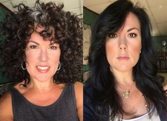 Now vs. Then 3a Out Wash and Go Natural curls  dye-free  curly hair  curly girl  curly girl method  curly silver