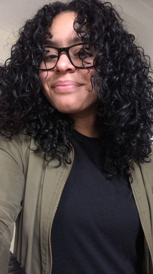 Overnight Hairplop :) 3b 3c Out SheaMoisture  Type3hair  Transitioning  naturallycurly  curlytransition  curlygirl  camillerose