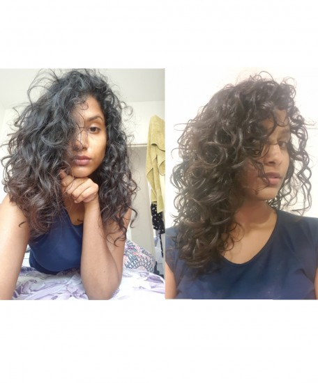 TRANSFORMATION TUESDAY 3a Out Wash and Go #recovery #curlygirly