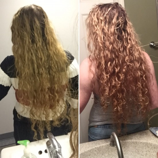 Day 1 vs Day 7 2b 2c Out Long Curly Hair
