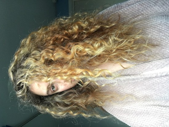 Morning after wash night 3a Out Wash and Go Hair  morning  big hair