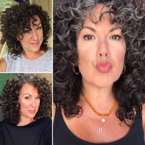 Fade to Gray 3a Out Wash and Go Curly Hair  3a Curls  Silver Curls  Its okay to be gray  Gray and Proud