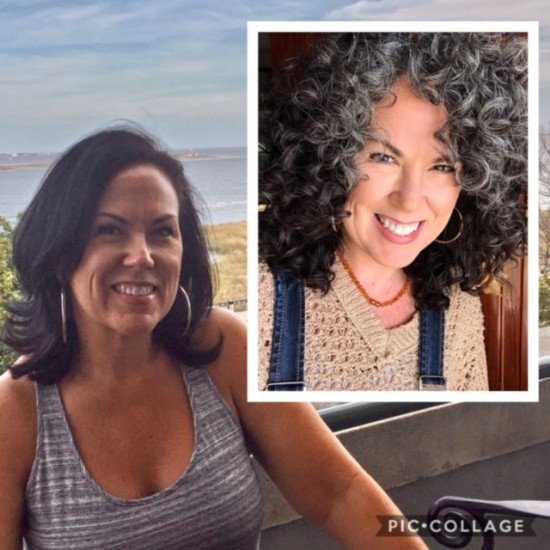Over 3 years apart! 3a Out Wash and Go Curly Hair  3a Curls  Silver Curls  Its okay to be gray  Gray and Proud  Silver and Sassy  Time and Patience