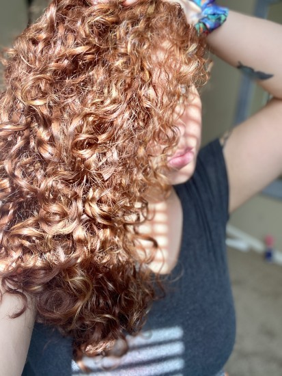 Curly Red Head 3b Out Braid & Curl
