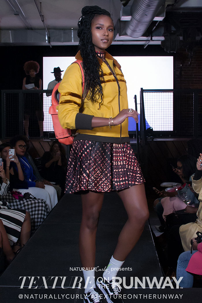 texture on the runway atlanta 2018 model as student