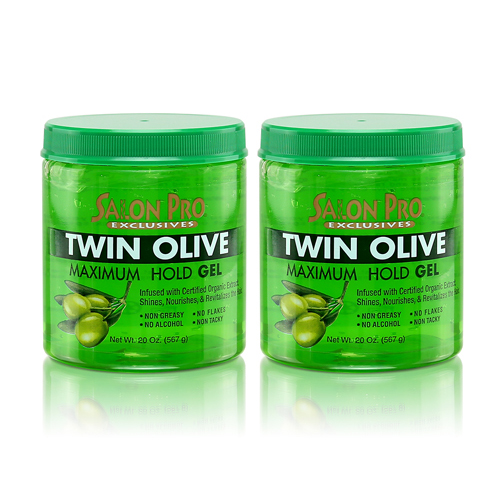 Salon Pro Exclusives Twin Olive Maximum Hold Gel