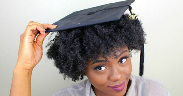 Does the sight of a graduation cap strike fear into your heart? How did you wear your hair on graduation day?