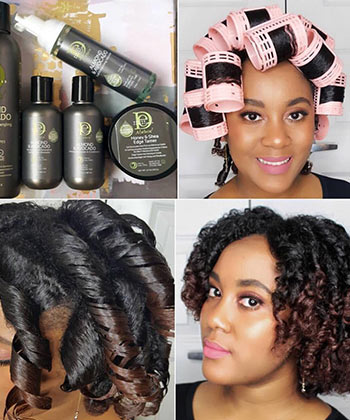 12 Tips for a Perfect Roller Set on Natural Hair
