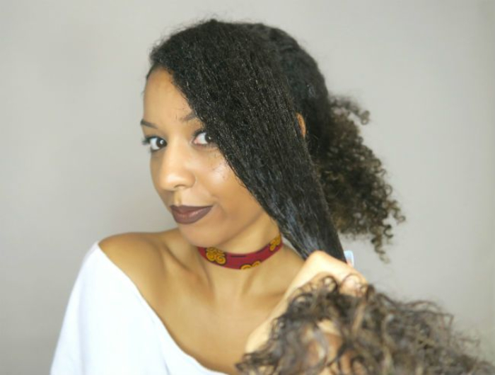 styling natural 3c curls for back to school