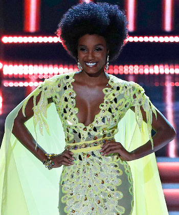 Can We Talk About Miss Jamaica's Formal 'Fro?