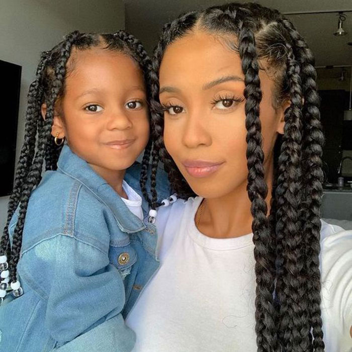 mommy and me protective style braids