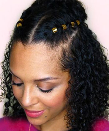 Try This Gorgeous Curly Hairstyle for Your Next Date Night