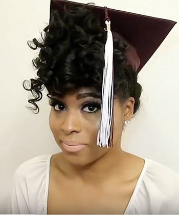 5 Ways to Style Your Curls For Graduation