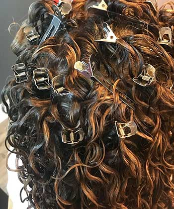 How to Clip at the Roots for Curly Hair