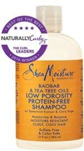 Baobab & Tea Tree Oils Low Porosity Protein-Free Shampoo