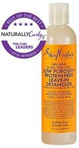 Baobab & Tea Tree Oils Low Porosity Protein-Free Leave-In Detangler