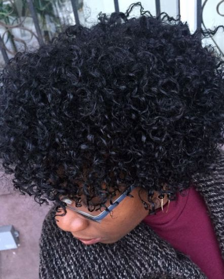 NaturalHair 3c 4a Out & Loose Twist Out naturallycurly
