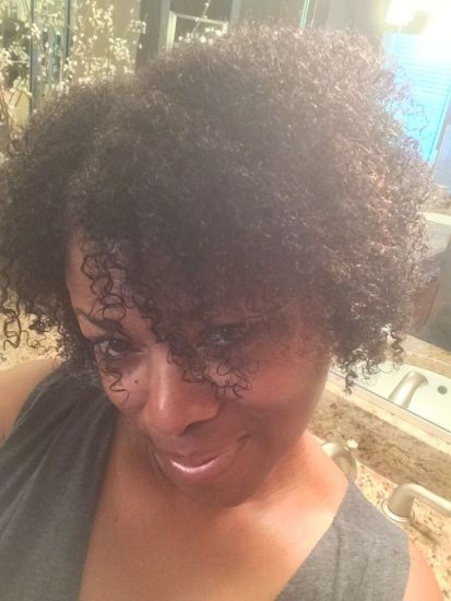 My favorite wash and go look! 3c Out & Loose Wash and Go curly hair natural hair wash and go