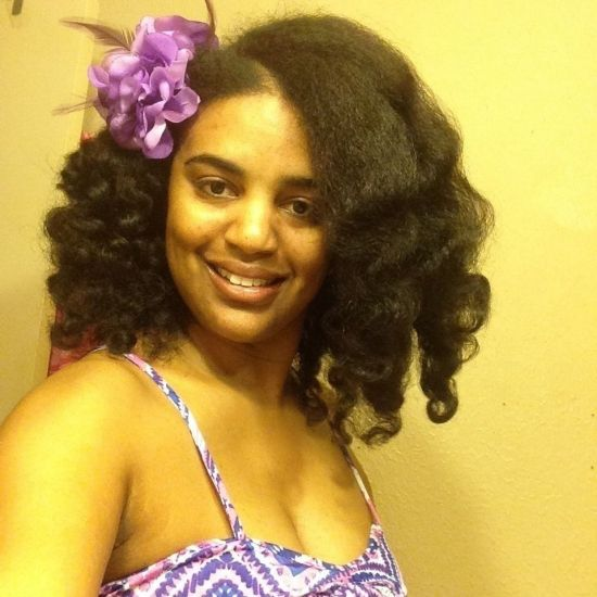 My beautiful braid  out! 3c Out & Loose Braid Out