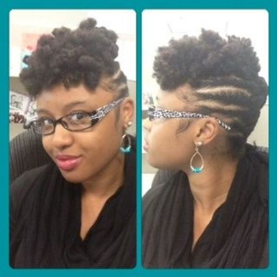 Twist out Updo 4a 4b Out & Loose Twist Out