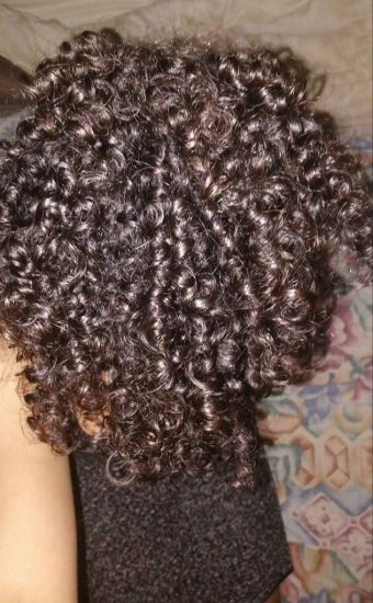 3rd day hair pineapple 3b 3c Out & Loose Wash and Go pineapple Wash and Go 3b-3c type Curly Hair