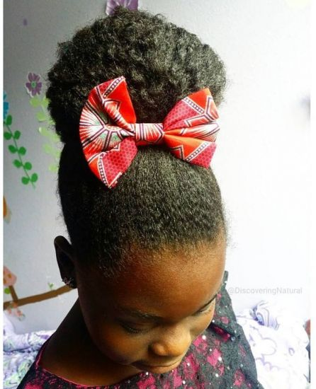 Fan Bun Hairstyle 4b 4c Updo Top Knot natural hair 4c hair natural hair kids bun