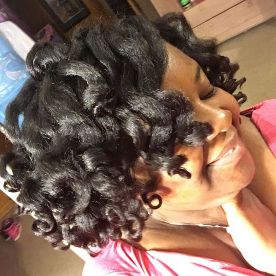 Curls on The Rise using Flexirods  4c Out & Loose Rollers & Rods