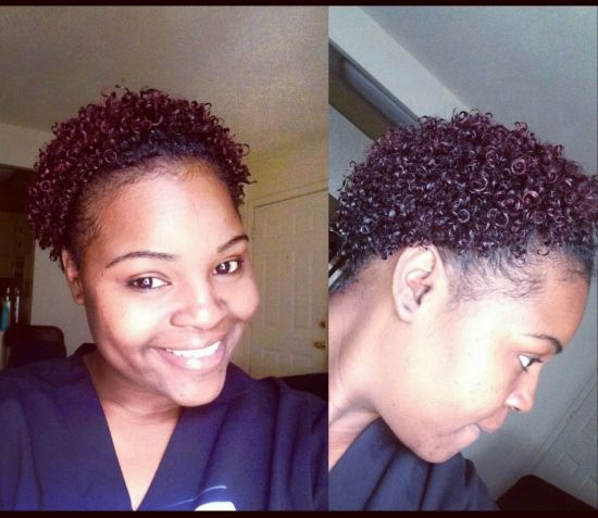 wash n go  3c 4a Out & Loose Wash and Go short hair 3c coily Carol's Daughter curls