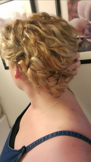 Braided updo (with extensions)  2c 3a Updo French Braid Braid updo Blonde ombre highlights