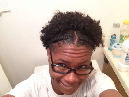 2 strand flat twist and a twist out  3c 4a Out & Loose Twist Out