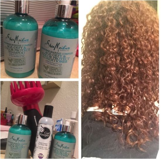 SheaMoisture and Curl Keeper 3a 3b 3c Out & Loose Wash and Go