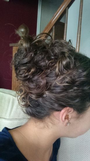 Curly up do for an interview 3a 3b Updo Top Knot