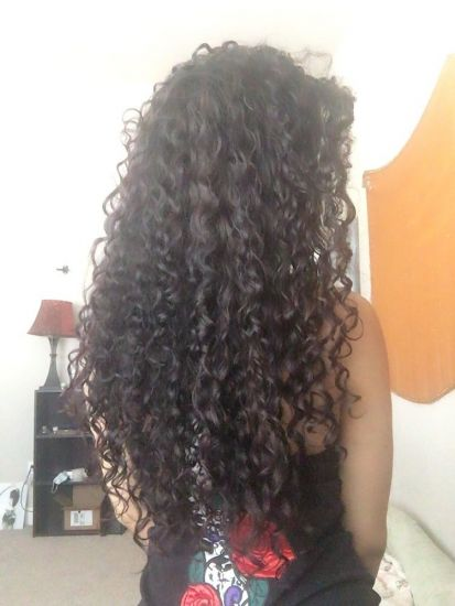 Curl definition  3a 3b Out & Loose Long Curly Hair 3b 3a long curly hair curl definition Wash and Go Cowash naturallycurly Curly Hair