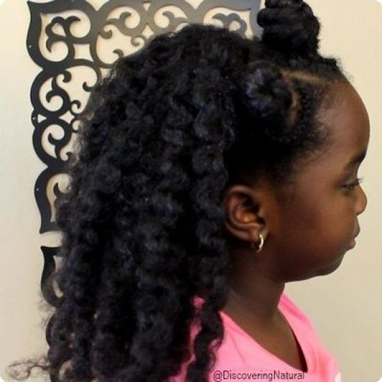 1 Minute Hairstyle: Bantu Knots and Twistout 4a 4b 4c Updo Bantu Knots