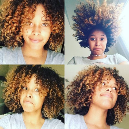Keeping Bleached Curls Happy 3b 3c 4a Out & Loose Wash and Go