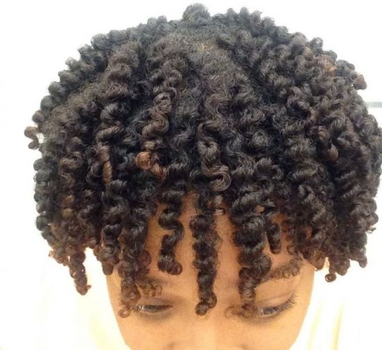 Twist out on blow-dryed hair 3c 4a Out & Loose Twist Out