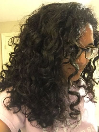 Apple Cider Vinegar Rinse, Day 1 2c 3a Out & Loose Long Curly Hair indian long curly hair