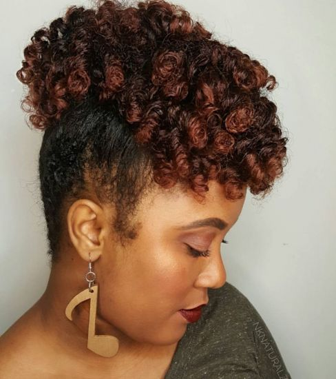 Perm rods set with flat twists  4a 4b Out & Loose Rollers & Rods Hydratherma naturals