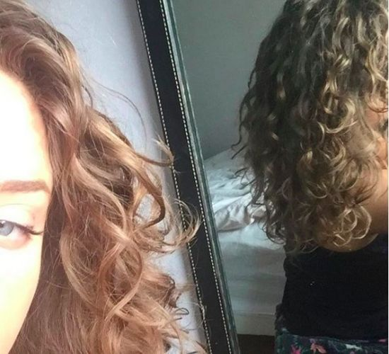 Plopping results 2b 2c Out & Loose Long Curly Hair