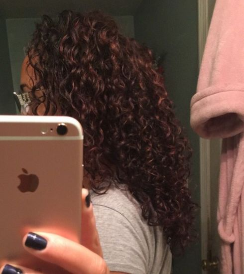 3b layered curl selfie  3b Out & Loose Wash and Go Wash and Go Team natural sheamoisture Curly Hair
