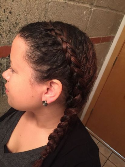 Simple Side French Braid 3b Updo French Braid Thin hair 3b French braid