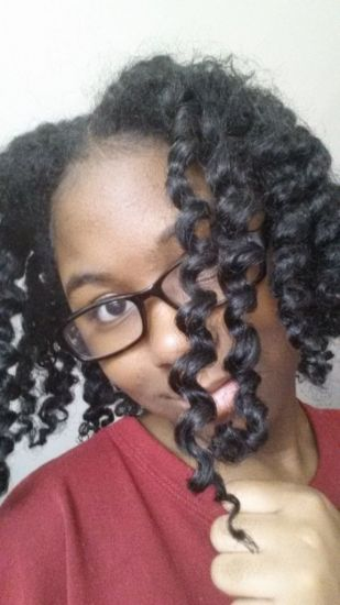 Twist Out With Diy flaxseed gel 3a 3b 3c Out & Loose Flat Twist Out
