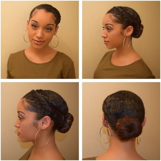 Easy Protective Hairstyle  3b Updo updo
