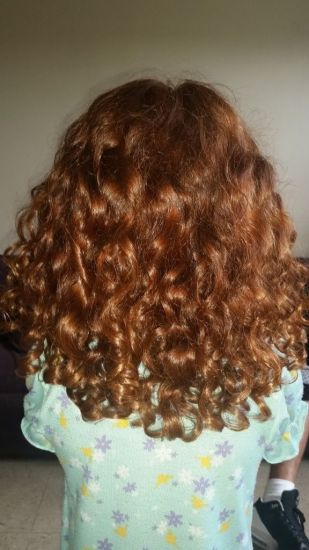 Red and bouncy  3a 3b Out & Loose Long Curly Hair
