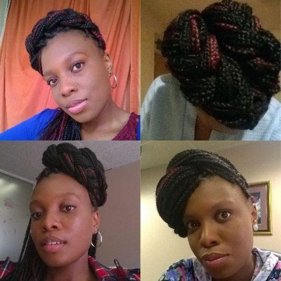 My box braids and i 4c Updo
