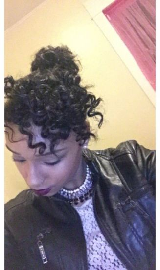 Bantu knots, with two flat twists coming from the bottom of my hair and pinned down.  2b Updo Bantu Knots