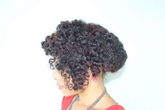 Faux Curly Bob On Bantu Knot-Out 3c Out & Loose Bantu Knot Out bantu knot bantu knot out faux bob curly bob stretched hair