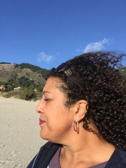 Moni319 wash&go look at Stinson beach California!  3b Out & Loose Wash and Go